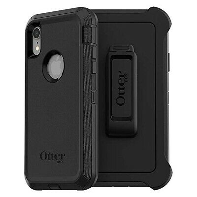 Otterbox Defender Series Case with Holster & Screen Protector iPhone XR - BLACK