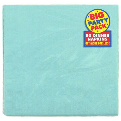Robin's Egg Blue Cyan Dinner Napkins 50pcs / Pack 2-Ply Big Party Pack Supplies