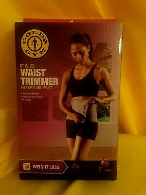 22ac7b2494 GOLD S GYM WAIST Trimmer Belt Adjustable Exercise Belly Fat Unisex ...
