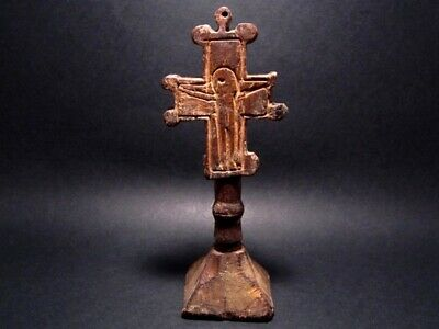 EXTREMELY RARE ANTIQUE 1800's. WOODEN CROSS BREAD PROSPHOR STAMP!!!