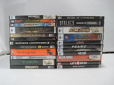 Lot Of 23 PC Horror Action Shooter Guns Computer Games Left 4 Dead Call Of Duty
