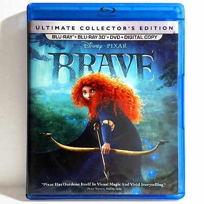 Brave (3D & 2D Blu-ray/DVD, 2012, 5-Disc Set, Ultimate Coll. Ed) Like New !