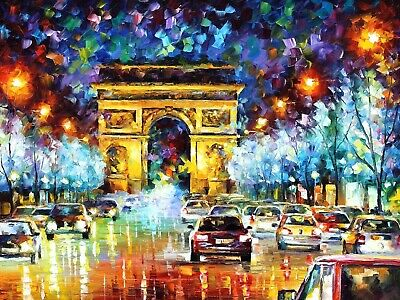 Paint by Numbers Kit 40x50cm with FRAME - Paris Flight