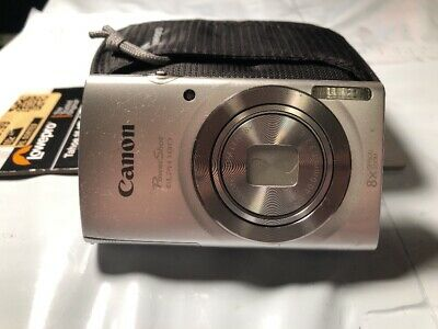 Canon PowerShot ELPH 180 20.0 MP Digital Camera Silver