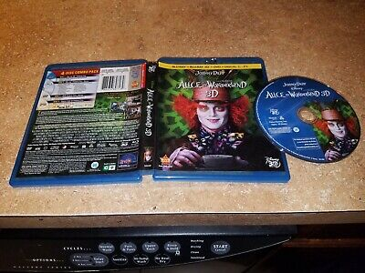 Alice in Wonderland (3D Blu-ray, 2010) EXCELLENT CONDITION