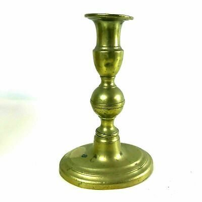 Unusual Oval Base English Brass Push up Candlesticks
