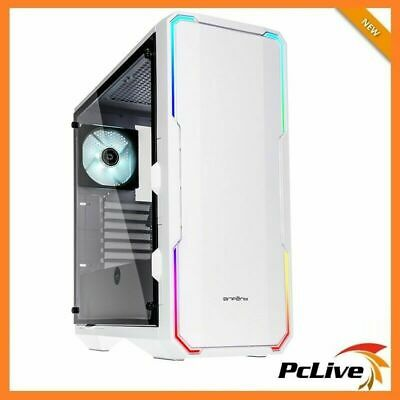 Bitfenix Enso White RGB Case Tempered Glass Window 2 Fans Quiet Mid Tower ATX