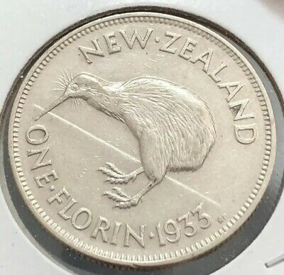 New Zealand 1933 King George V Florin - UNC