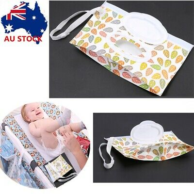 EVA Baby Wet Wipe Pouch Wipes Holder Case Reusable Refillable Wet Wipe Bag BS