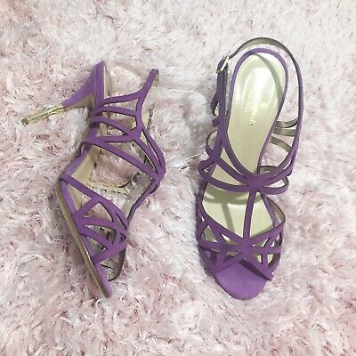 4e3590c2c4e8 Kate Spade Issa Women s High Heels Strappy Sandals Lilac Purple Suede Size  7 M