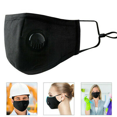 Mouth Face Mask Respirator Cycling Anti-Dust + 10 x Carbon Replacement Filters