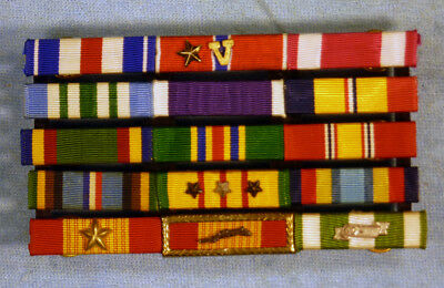 Outstanding and vintage Navy or Marine Vietnam combat ribbon group!