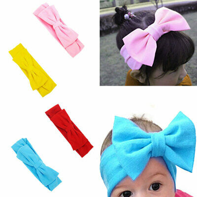 1pc Women Kids Baby Girl Bow Knotted Turban Hair Band Headband Headwear new