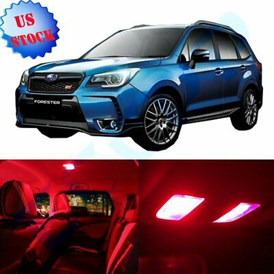 11x Car Led Interior Lights Kit For Subaru Forester 1998 2009 Red Bulbs Package