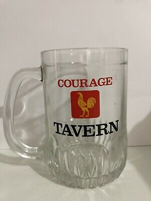 Vintage Courage Tavern Pint Beer Glass Draught