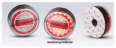 Trailer 2 X Stop/Tail & Indicator With Reflector Maxilamps M/Volt Led Autolamps