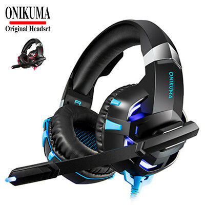 K2A 3.5mm Casque Gaming Gamer MIC Stéréo Basse LED pour PC Mac Laptop PS4 Xbox
