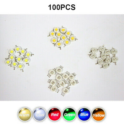 100X 3W High Power Lamp Beads LED COB Chip White RGB Yellow SMD Wholesale