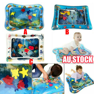 Baby Water Play Mat Inflatable For Infants Toddlers Fun Tummy Time Sea World UEE