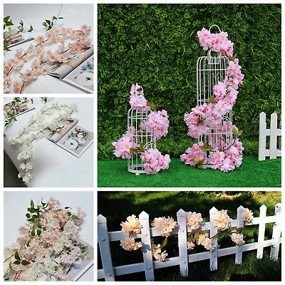 1,8 M artificiels-fleurs de cerisier fleur guirlande vigne Wedding Party Decor