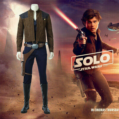 Star Wars:The Force Awaken Han Solo Cosplay Costume Halloween Fancy Dress Outfit