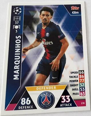 Topps Match Attax Champions League 2018-2019 Card No. 278 Marquinhos