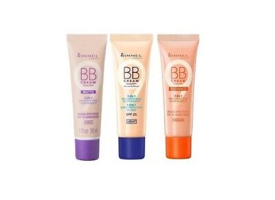 Rimmel London BB Cream 9-in-1 Skin Perfecting Super Makeup choose your shade