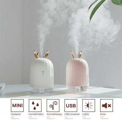 USB Ultrasonic Air Humidifier Essential Oil Aroma Diffuser Aromatherapy 7 LEDs M