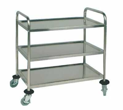 Serving Cart Transporter, 855x535x930mm, with 3 Borden Clearing Trolley