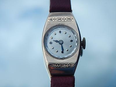 LONGINES Ladies Watch 9k Rose Gold 9ct New Band Antique Vintage 1930's