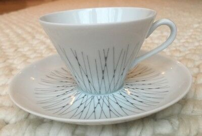 """Vintage Arabia Finland """"Stella"""" cup and saucer, Mint condition"""
