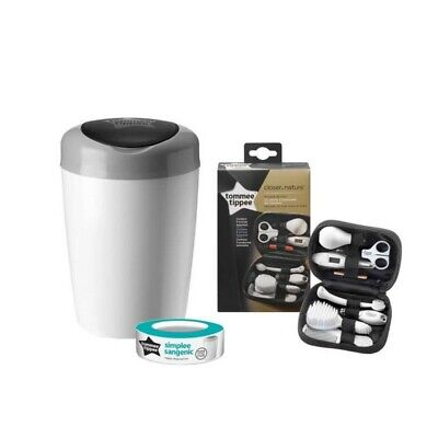 TOMMEE TIPPEE Poubelle a couches SIMPLEE + Trousse de soin complete