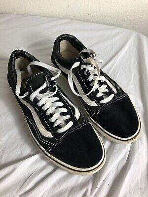 Vans Old Skool Authentic Black Sneaker Men's SZ 8.5 Women's SZ 10 School Shoes