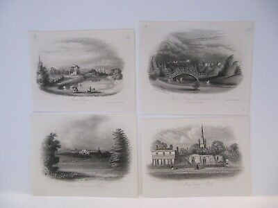 19th CENTURY, Four Engravings, VIEWS OF BIRKENHEAD, published circa 1850