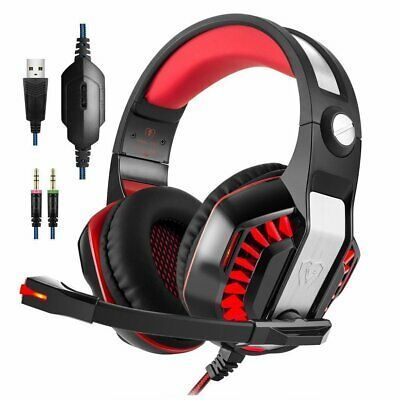 Kotion G2000 Computer Gaming Stereo Headset Earphone MultimediaLED w/ Mic Lot T5