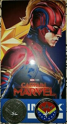 Captain Marvel collectible movie ticket./coins.
