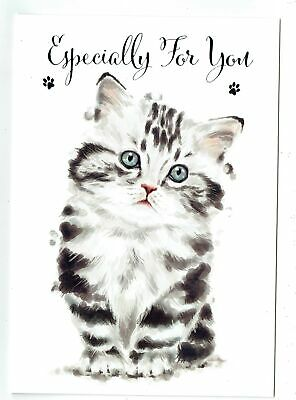 Cards & Invitations Home, Furniture & DIY General Birthday Card With Cute Cat Design