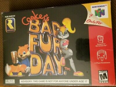 Conker's Bad Fur Day (Nintendo 64, 2001)BRAND NEW FACTORY SEALED NEVER OPENED