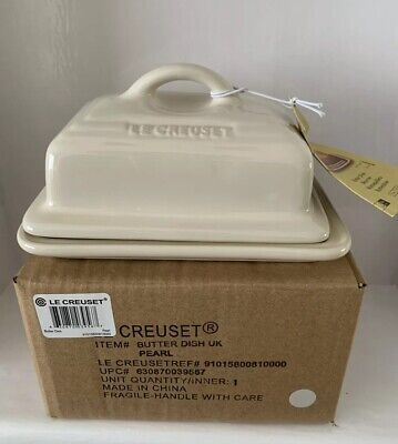 Le Creuset Butter Dish - Almond/Pearl (NEW)