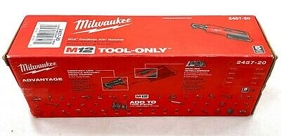 Milwaukee M12 12-Volt Lithium-Ion Cordless 3/8 in Ratchet Tool-Only 2457-20