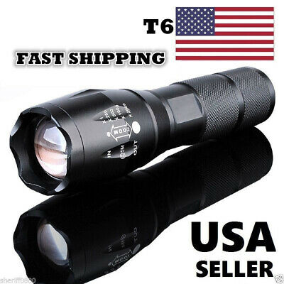 High Performance Compact Super Bright White Light Small LED Flashlight T6 Torch