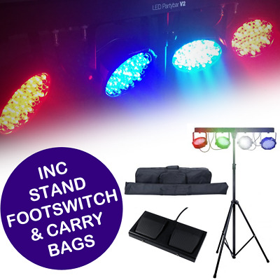 Partybar V2 LED Parbar kit with Bag, Stand and Foot controller DMX Stage light B