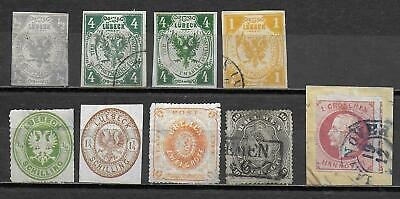 German States stamps Collection of 9 CLASSIC stamps HIGH VALUE!