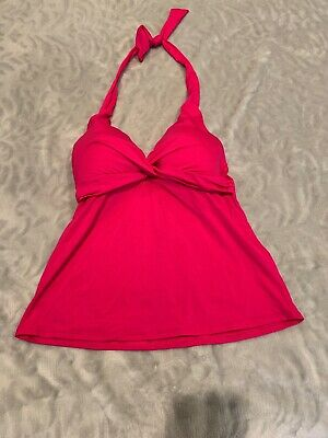 52f45abba65d6 GIBSON LATIMER TANKINI Top M Padded Bra Hot Pink Cruise Top Tie Back ...