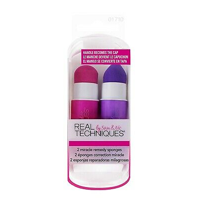 Real Techniques 2 Miracle Remedy Make-up Sponges Travel Friendly
