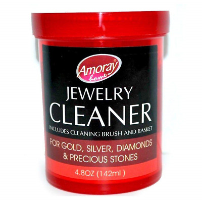 Amoray The Solution Safely Clean All Jewelry Gold Silver & Diamonds Liquid Multi