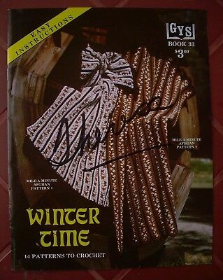 e4a6e81fca4d 14 patterns ~ Classic Winter Time Leaflet CROCHET Afghans   blanket   throws