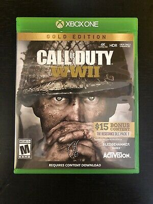 Call of Duty: WWII GOLD EDITION World War 2 Xbox One USED VERY GOOD CONDITION