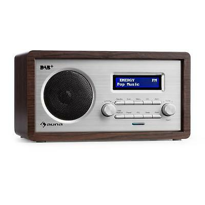 [B-Stock] Digital Radio DAB Alarm Clock FM Tuner Compact Speaker Retro Aux LCD