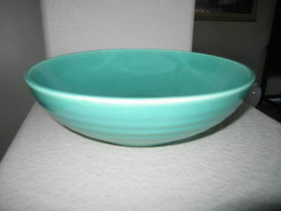 Late Period Bauer Pottery Ringware Salad Bowl Jade Green